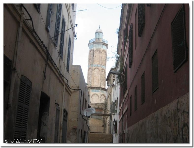 on aperçois le minaret